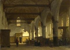 The Interior of the Bakenesserkerk, Haarlem