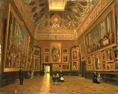 The Salon Carré in the Louvre