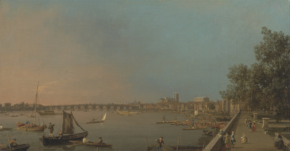 The Thames from the Terrace of Somerset House, Looking toward Westminster