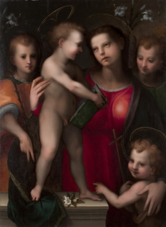 The Virgin and Child with the Young Saint John the Baptist and Two Angels