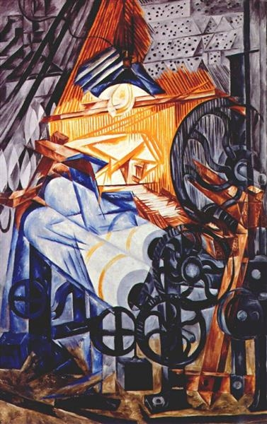 The weaver (loom+woman)