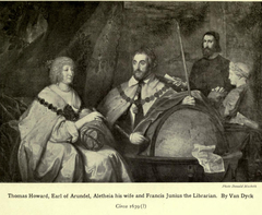 Thomas Howard, 2nd Earl of Arundel (1585-1646) and his Wife Lady Alethea Talbot, Countess of Arundel (c.1590-1654) with possibly Francis Junius (1589-1677) or William Petty