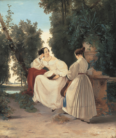 Two women in the park