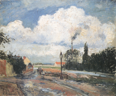 The Quai du Pothuis at Pontoise after Rain