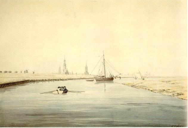 View of Greifswald from the east