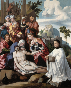 Lamentation of Christ with a Donor