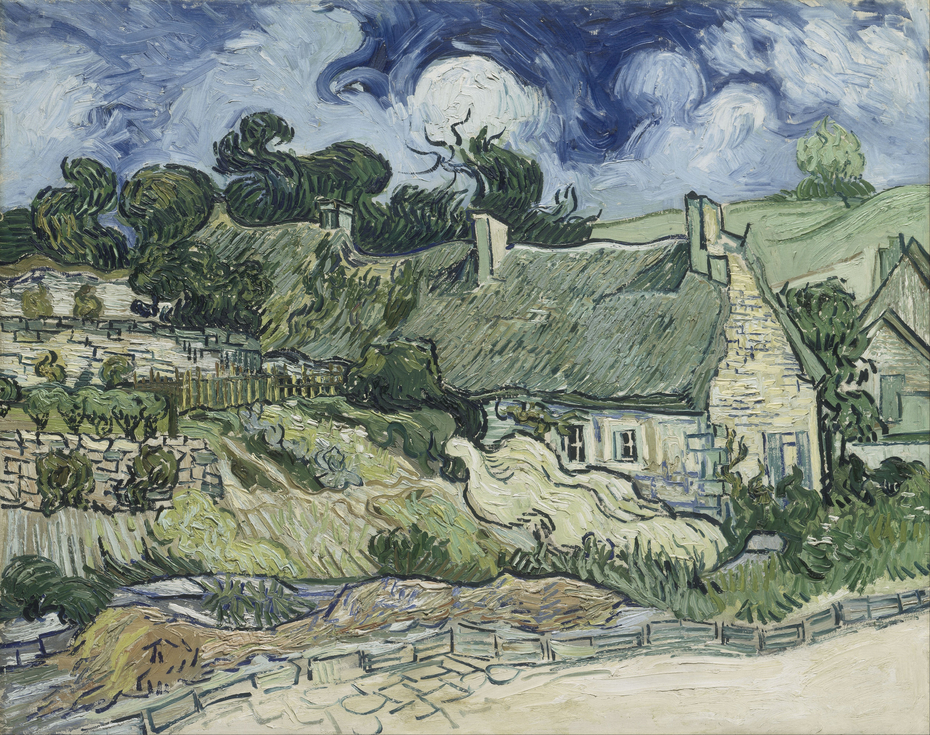 Thatched cottages as Cordeville, Auvers-sur-Oise