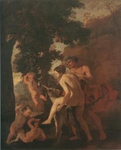 Venus, Faun and Putti