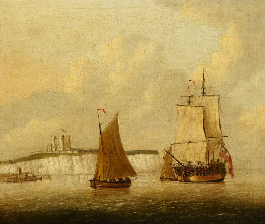 Vessels under sail off Dover