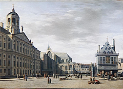 View of the Amsterdam City Hall