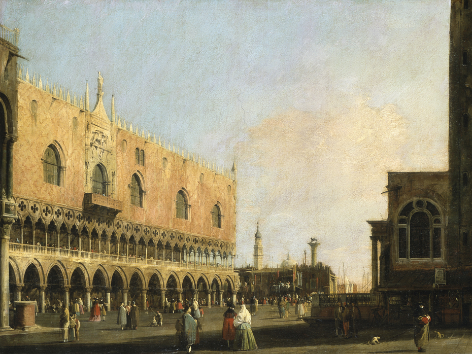 View of the Piazzetta San Marco Looking South