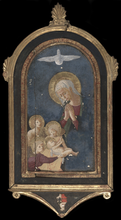 Virgin Adoring the Child Supported byAngel