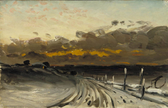 Winter Landscape, Sunset