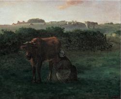 Woman Milking a Cow
