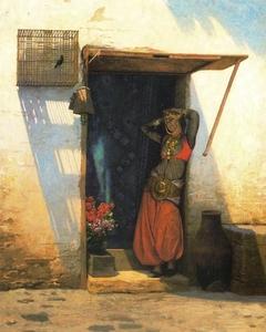 Woman of Cairo at her Door