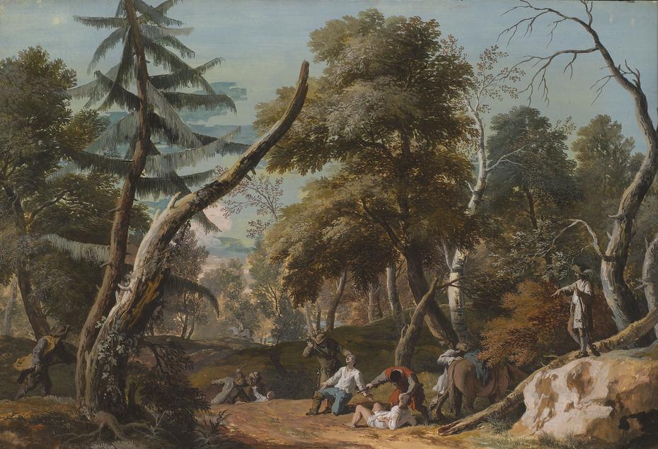 Woodland Scene with Bandits