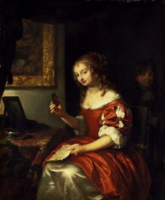 Young Lady with a Letter and a Medaillon