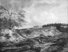 A Manor House on a Steep Chalk Hill
