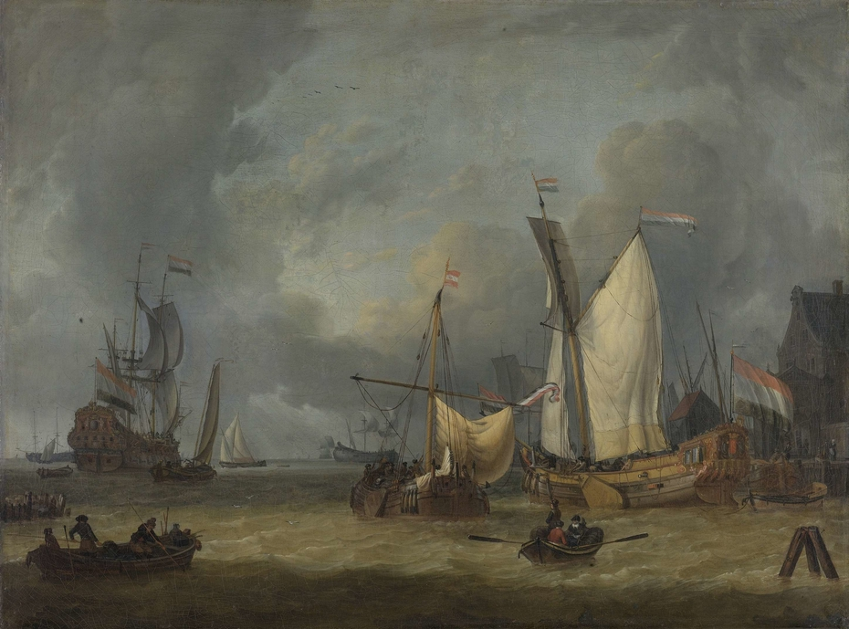 A Storm (Ships in the Harbor in a Stiff Breeze)
