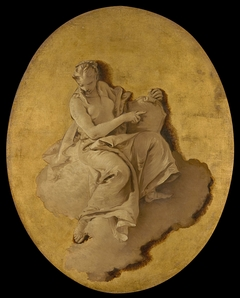 Allegorical Figure of a Woman with a Shield or a Mirror (Prudence?)
