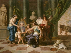 Allegory on the Installation of the Museum in the Grande Galerie of the Louvre