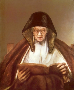 An Old Woman Reading (formerly Prophetess Hannah)