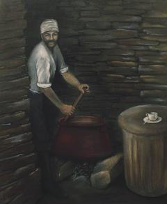 Ανακατεύοντας τα σίσυρα - Stirring the pork