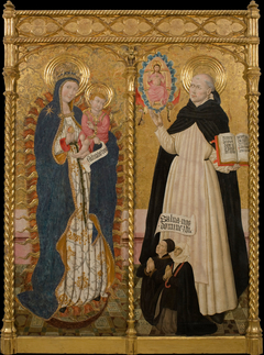Apocalyptic Virgin and Saint Vincent Ferrer with two Donors