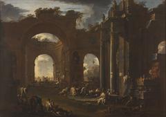 Arsenal in a Ruined Basilica