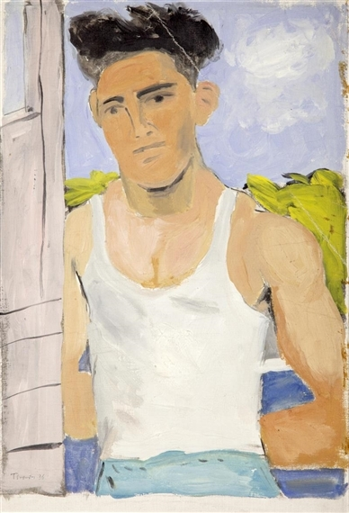 Athlete in white vest