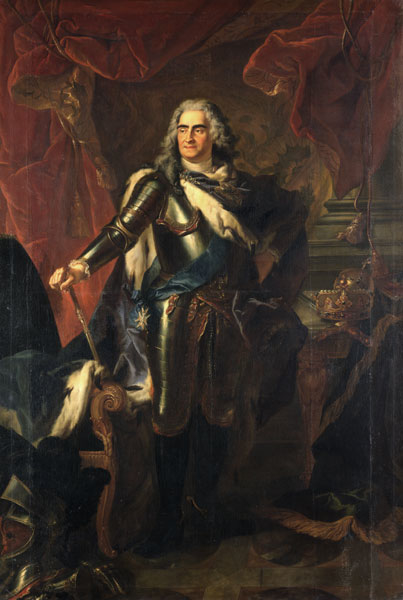 Augustus II the Strong in Armour (Silvestre, 1718)