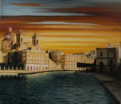 Bormla Malta Oil on Canvas