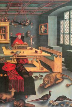 Cardinal Albrecht of Brandenburg as Saint Jerome