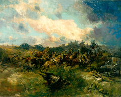 Cavalry and Tanks at Arras, 1918