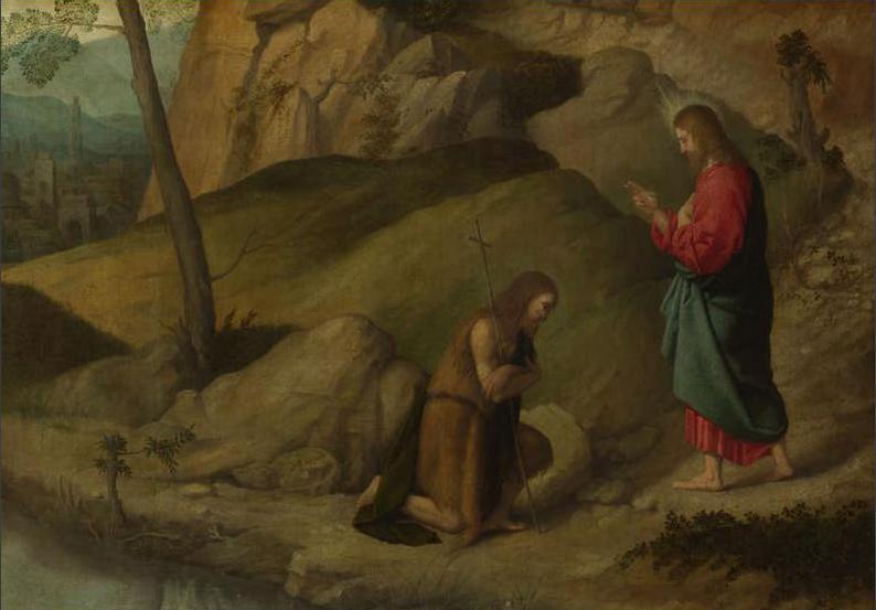 Christ blessing Saint John the Baptist