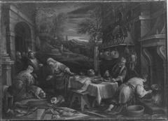 Christus bei Maria und Martha (Werkstatt)