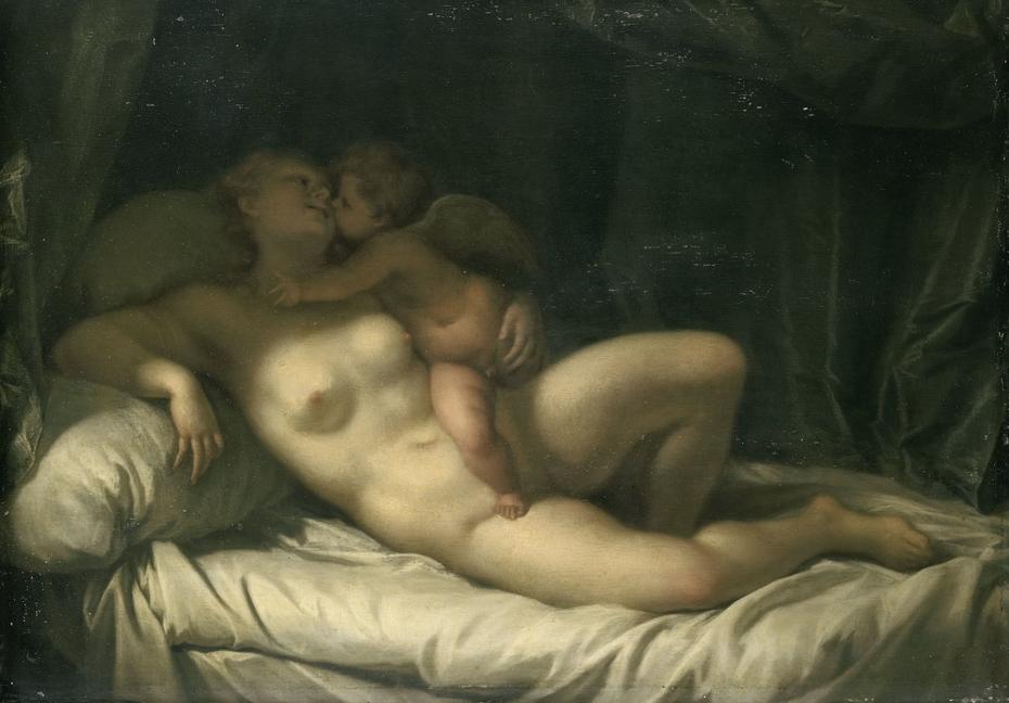 Cupid Kissing Venus (Venus Kissed by Amor)