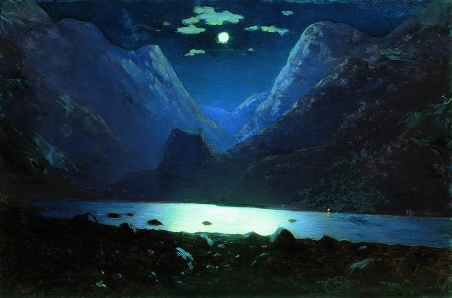Daryal pass. Moonlight Night