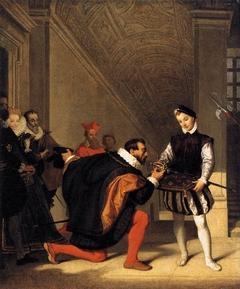 Don Pedro of Toledo Kissing Henry IV's Sword