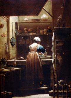 Donna che lava i piatti