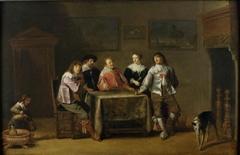Elegant Figures in an Interior