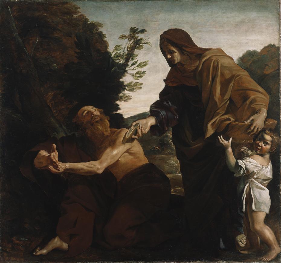 Elijah Receiving Bread from the Widow of Zarephath