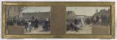 Esquisse pour le cabinet du Préfet à l'Hôtel de Ville : La sortie des troupes durant Le siège de Paris en 1870