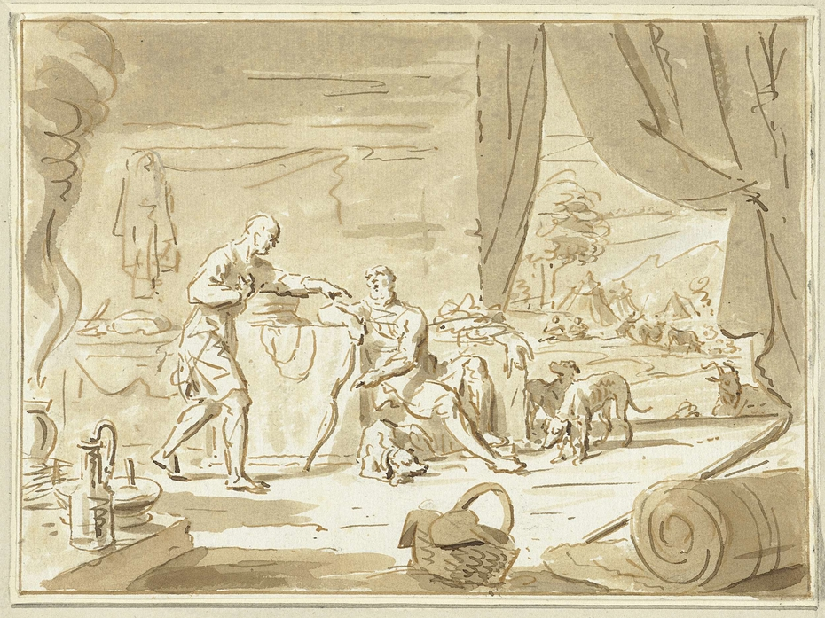 Ezau verkoopt zijn eerstgeboorterecht aan Jakob