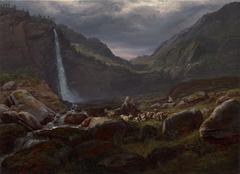 Feige Waterfall (Feigefossen), Lysterfjord, Norway