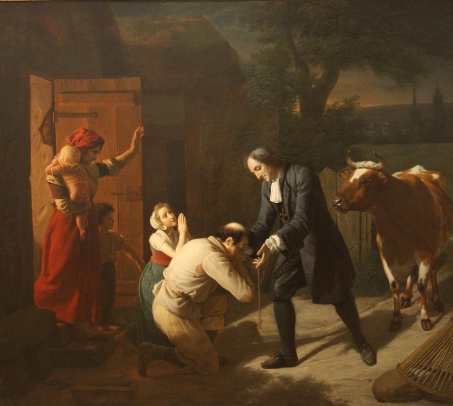 Fénélon returns a Stolen Cow to a Peasant