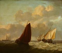 Fishing Boats in a Choppy Sea