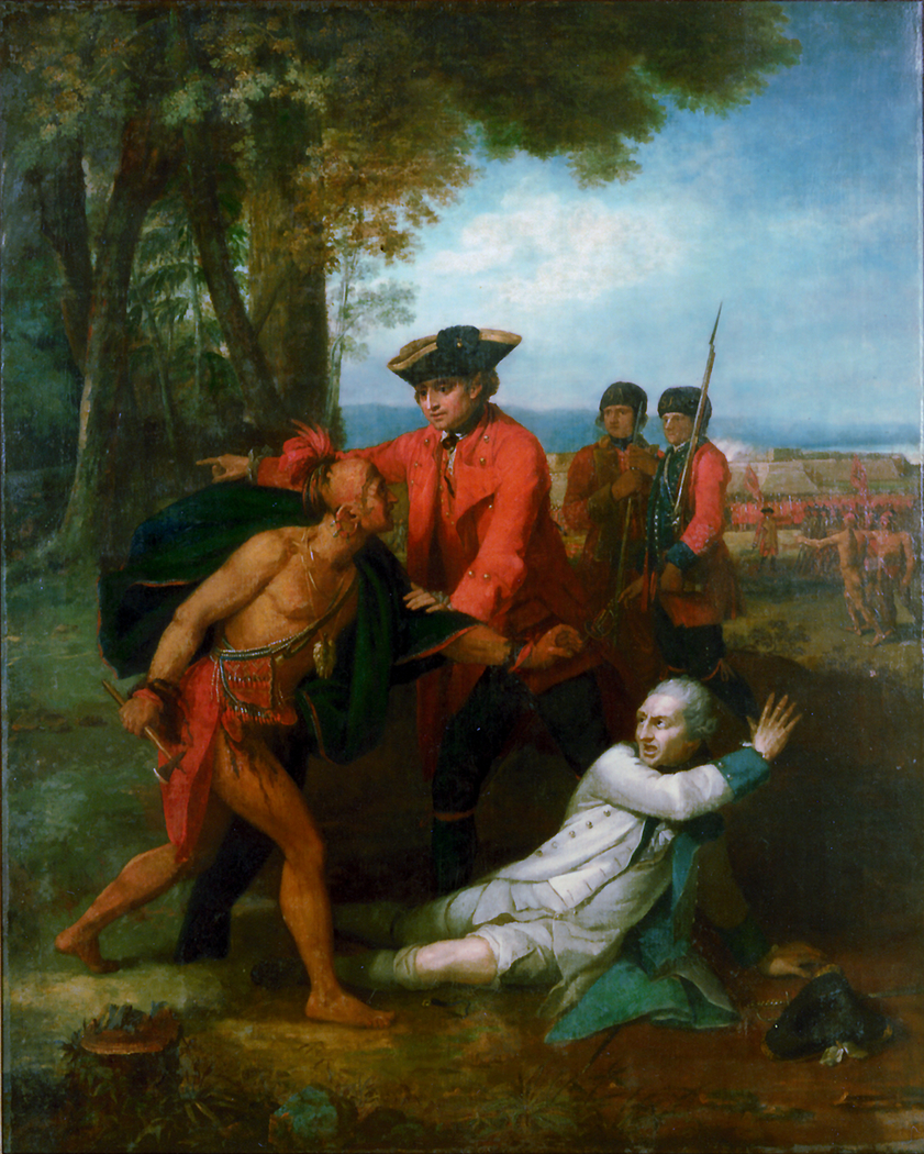 General Johnson Saving a Wounded French Officer from the Tomahawk of a North American Indian