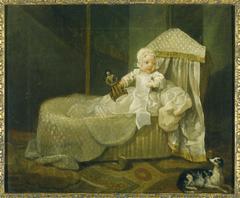 Gerard Anne Edwards Hamilton (1732–1773) in his Cradle