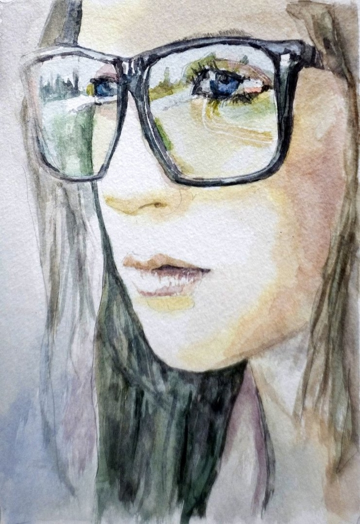Girl In The Big Glasses